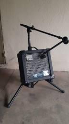 Título do anúncio: Vendo Suporte C/ Encosto Para Amplificador On Stage Stands Já com suporte de microfone