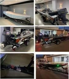 Título do anúncio: VENDE-SE CANOA DE 6 METROS SEMI CHATO COM MOTOR YAMAHA 40HP (NOVA!)