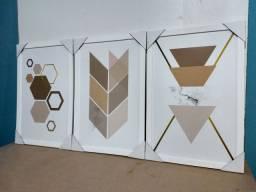 Trio de Quadros Decorativos *Leia