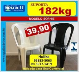 cadeira Sofia uso comercial suporta 182kg por 39,90