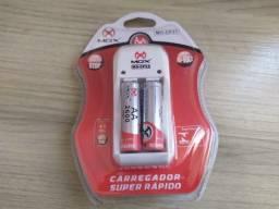 Carregador de Pilhas Super Rápido - 2 Pilhas