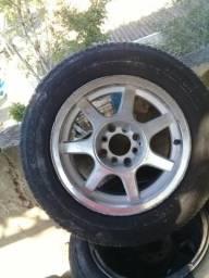 Vendo ou troco rodas aro 14 com pneus