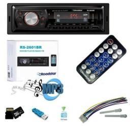 Instalação Grátis. 89,90 Rádio MP3 Pendrive, SD Card, Aux e Controle