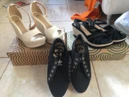 2 sandálias e um tênis 70,00