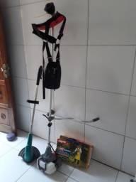 Roçadeira e kit proteção
