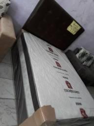 Cama unibox 10 cm espuma d33 grátis 2 travesseiros