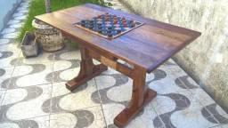 Mesa de damas ( Nova ) toda em madeira