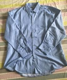 Camisa social de seda