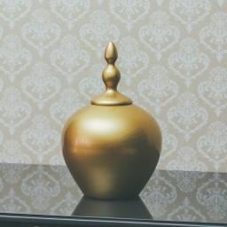 Vaso Potiche Dourado - Cerâmica