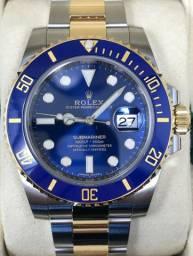 Relógio Rolex Submariner misto azul