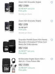 Gravador profissional Zoom H2N portátil