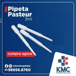 Pipeta Pasteur Graduada Vol. 3ml - Cx 500un - Cralplast