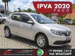 Sandero Expression Flex 1.0 *Carro Impecável* Novo D+* Garantia Pós Venda* Ipva 2020 Pago - 2019