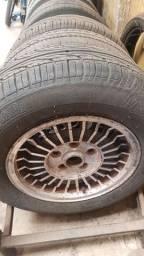 Jogo de rodas ralinho Opala/Caravam aro 14 com pneus bons