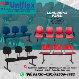 Cadeiras fixas e longarinas