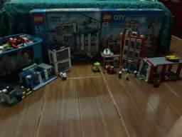 Lego 60110 e 60047 na caixa