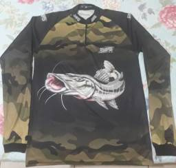 Camiseta de pesca tam. P esta em Ariquemes