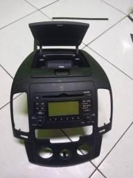 Som de carro original Multimídia Hyundai I30 Com Moldura