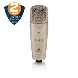 Microfone Behringer C-1u Cardióide - Condensador - USB - Original, Novo com Garantia e NF