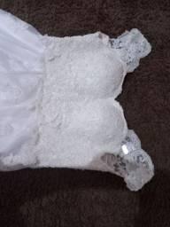 Título do anúncio: Vestido de noiva Flávia Murta + anagua+ véu