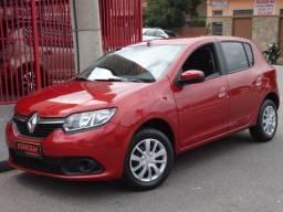 Renault New Sandero Expression 1.6 8v Flex 4 Portas Vermelho Completo