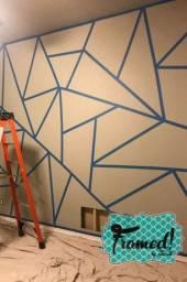 Papel de parede em vinil.