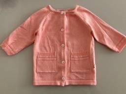 Cardigan bebê tricot 0 a 3m