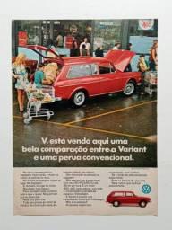 VW Variant - Propaganda de revista