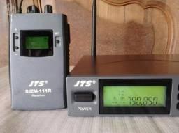 Monitor sem fio / Ponto JTS Siem 111 / Fone Shure In Ear