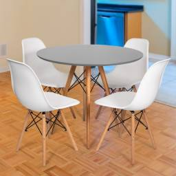 Mesa estilo eiffell + 4 cadeiras eiffell