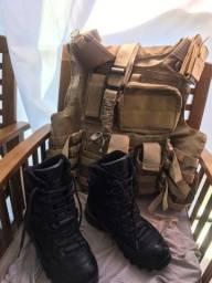 Título do anúncio: Colete Rio Militar e coturno militar profissional