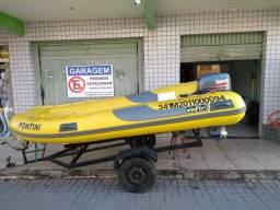 Bote inflavel com motor 25HP