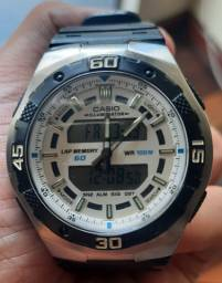 Relógio Masculino Anadigi Casio AQ-164W-7AVD - Muito Novo!