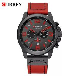 Relógio CURREN Casual (Todo Funcional)Vermelho