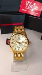 Relógio Technos Masculino Dourado Executive