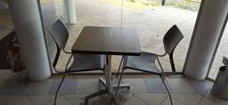 Mesa dobrável de madeira,mesa fixa com cadeira estofada ...