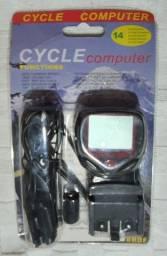 Computador de Bordo Velocímetro Digital 14 Funções Para Bike à Prova D'agua