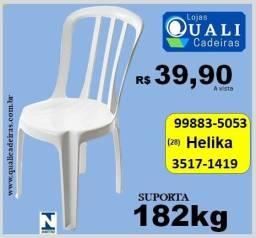 Cadeira Bressan uso comercial suporta 182kg por 39,90