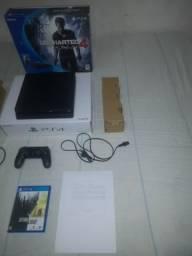 PS4 Playstation 4 Slim- 500gb - 1 controle- 6 Jogos Top- caixa, nota. aceito cartão.