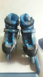 Patins de Roda Hyper Sports - Preto e Azul