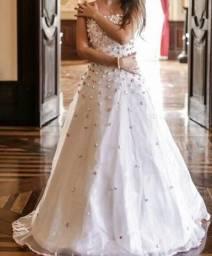 Lindo e delicado vestido de 15 anos