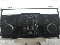 Cdj pioneer + djm 400 + case