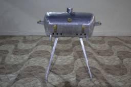 Churrasqueira a bafo de alumínio
