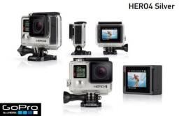 Câmera Digital GoPro Hero 4 Silver 4k Tela Touchscreen+64 gb brinde