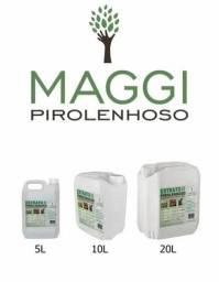 Extrato pirolenhoso, adudo fertilizante natural