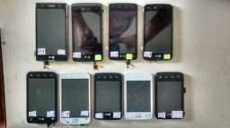 Frente do celular LG tela LCD touch perfeito estado c/pequenas marcas de uso aceito cartão