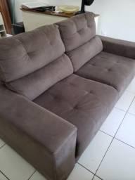 VENDO URGENTE sofá retrátil e reclinável 3 lugares