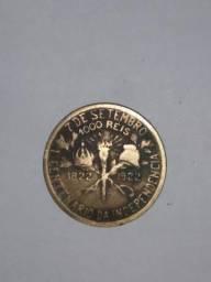 Moeda raríssima 1000 reis centenário de 7 de setembro - 1822-1922
