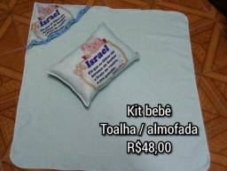 Kit bebê almofada / toalha de banho