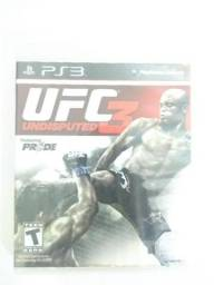 Jogo UFC UNDISPUTED 3 PARA PS3. comprar usado  Rio de Janeiro